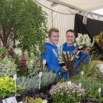 Chorley Council Flower Show Astley Park Chorley Daniel Bamford (right) and Josh Townson of Everglades of Everglades of Leyland winner of a silver medal at their first show