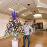 Chorley Council Flower Show Astley Park Chorley Guest gardener David Domoney in the Art Gallery