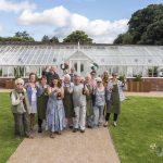 Chorley Flower Show held in Astley Park. Volunteers Gardeners from the Walled Garden