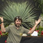 Chorley Flower Show held in Astley Park. Phil Ball of the Lost World Nursery Hesketh bank wins silver award
